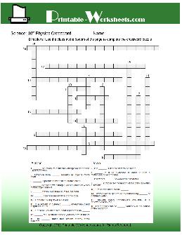 10th Grade Science Worksheets - TheWorksheets.CoM ...